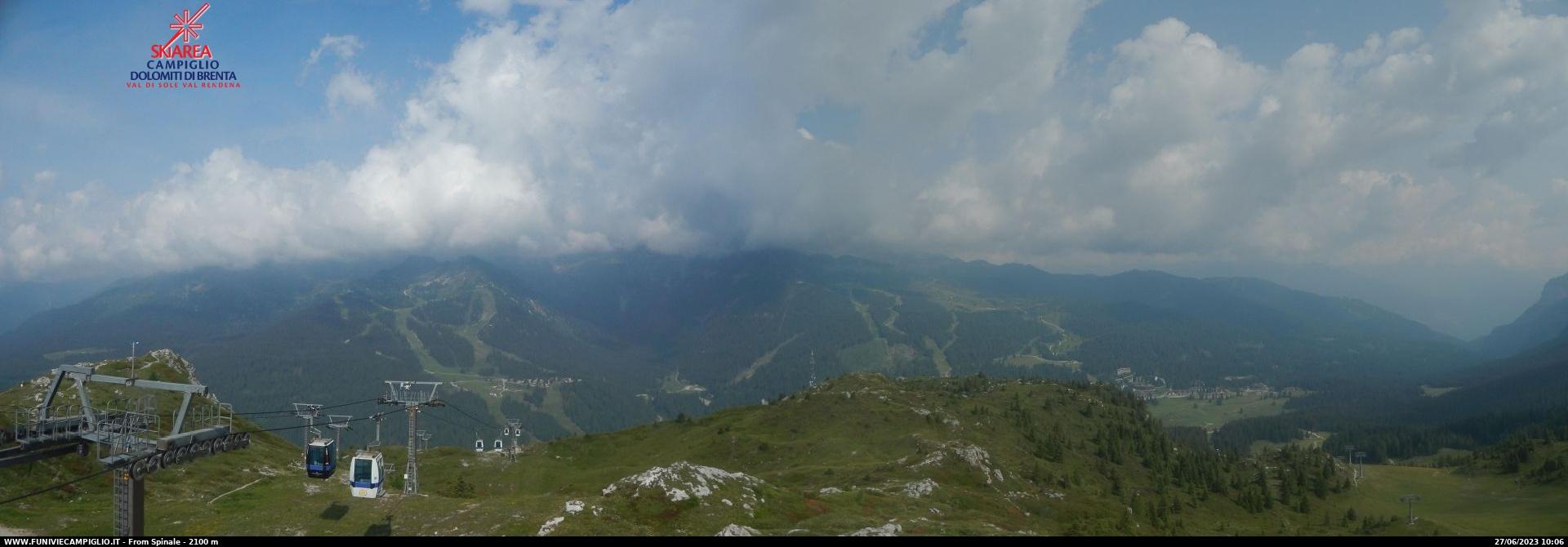 Webcam panoramica Pradalago da Spinale - Madonna di Campiglio