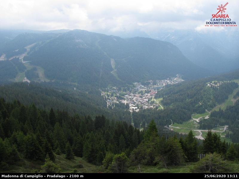 Webcam en Panorama da Pradalago, Madonna di Campiglio (Alpes Italianos)